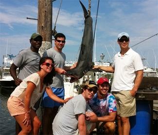Shark fishing in Montauk