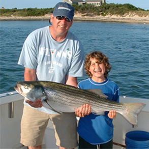striped bass fishing montauk